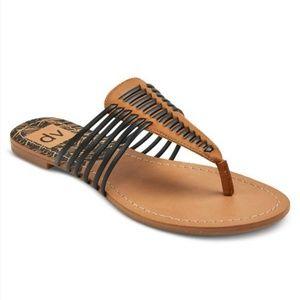 Dolce Vita Gaby Thong Black Sandals